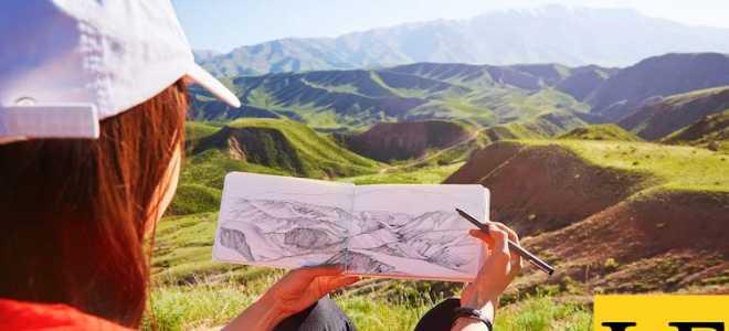 3 простых шага нарисовать любой пейзаж, который вы видите