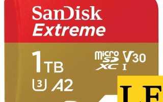 SanDisk представляет первую в мире карту памяти MicroSD емкостью 1 ТБ
